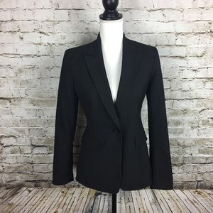 Elie Tahari black pin striped blazer